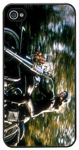 Girl On A Motorcycle High Quality Cover Case For iPhone 4/4S Motorbike Gift