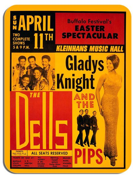 Gladys Knight And The Pips Plus The Dells Mouse Mat Soul Music Concert Mouse pad
