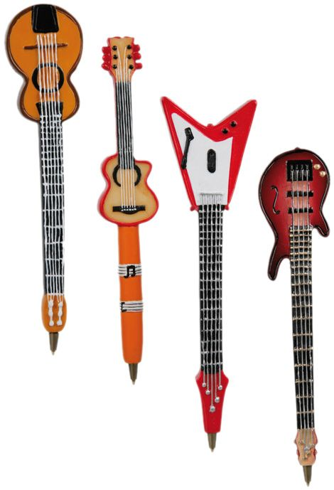 Guitar pens. Set of 4