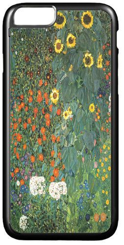 Gustav Klimt Farm Garden With Sunflowers Cover/Case For IPhone 7/7S High  Quality