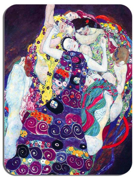 Gustav Klimt The Virgin Art Nouveau Print Mouse Mat. High Quality Art Mouse Pad