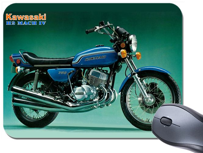 H2 Mach IV 750 Brochure Mouse Mat. Motorcycle Motorbike Classic Bike Mouse Pad