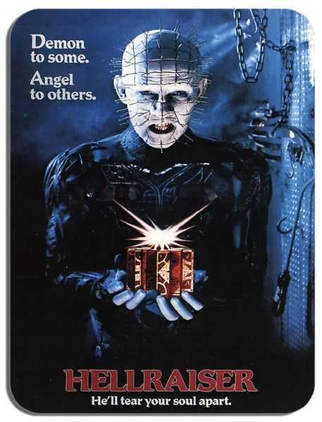 Hellraiser Vintage Film Poster Mouse Mat. Classic Horror Movie Mouse Pad Gift