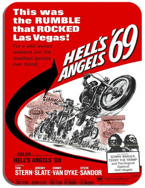 Hells Angels 69 Movie Mouse Mat. Biker Motorcycle Film Quality Poster Mouse Pad