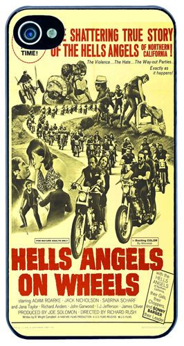 Hells Angels On Wheels Biker Movie Poster Cover/Case Fits iPhone 4/4S Motorcycle