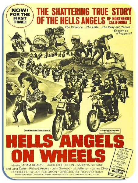 Hells Angels On Wheels Mouse Mat. Movie Poster High Quality Mouse Pad Motorcycle