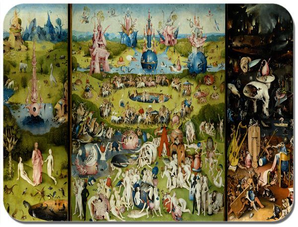 Hieronymus Bosch The Garden Of Earthly Delights Mouse Mat High Quality Mouse Pad