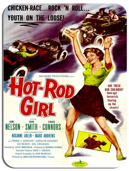 Hot Rod Girl Movie Poster Mouse Mat. Rock 'N Roll Car Film Novelty Mouse pad