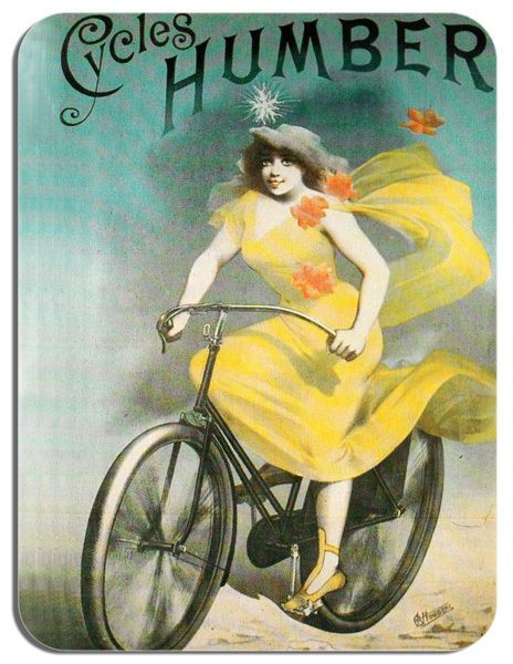 Humber Vintage Bicycle Advert Mouse Mat Classic Bike High Quality Mouse pad Gift