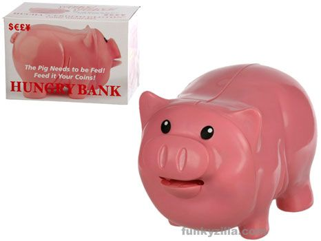 Hungry Pig Coin Money Bank