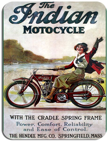Indian Vintage Motorcycle Advert Mouse Pad. Classic  Motorbike Bike Mouse Mat