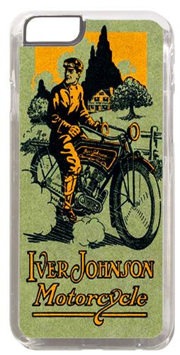 Iver Johnson Motorcycle Ad Cover/Case Fits iPhone 6 PLUS + /6 PLUS S. Motorbike