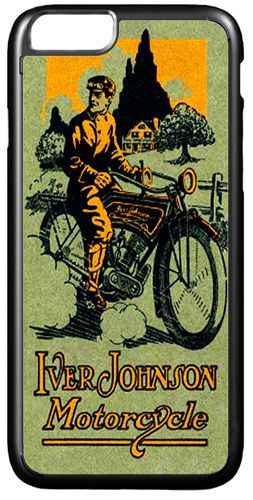 Iver Johnson Motorcycle Advert Cover Case For iPhone 7/7S Motorbike Classic Bike