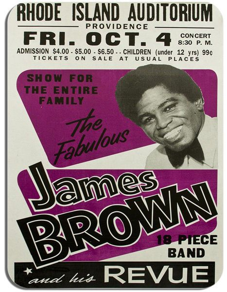 James Brown and his Revue Concert Poster Mouse Mat. Retro Novelty Mouse pad