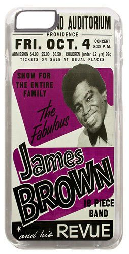 James Brown & his Revue High Quality Cover/Case Fits iPhone 6/6S Funk Soul Jazz