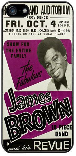 James Brown & his Revue High Quality Rubber Cover/Case Fits iPhone 5/5S. Soul