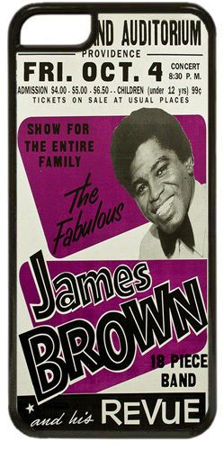 James Brown & His Revue Quality Cover/Case Fits iPhone 5C. Funk, Soul, Jazz King