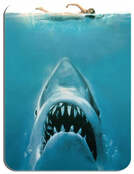 Jaws Mouse Mat Movie Poster Film Novelty Mouse pad