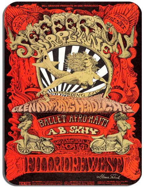 Jefferson Airplane Fillmore West Poster Mouse Pad Psychedelic Grace Slick Mouse Mat