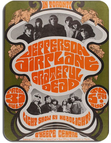 Jefferson Airplane O'Keefe Centre Concert  Poster Mouse Mat Psychedelic Mouse Pad