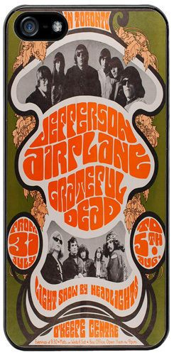 Jefferson Airplane Poster High Quality Cover/Case Fits iPhone 5/5S Classic Rock