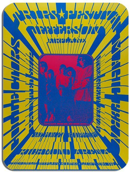 Jefferson Airplane Vancouver Trips Poster Mouse Mat Psychedelic Mouse pad