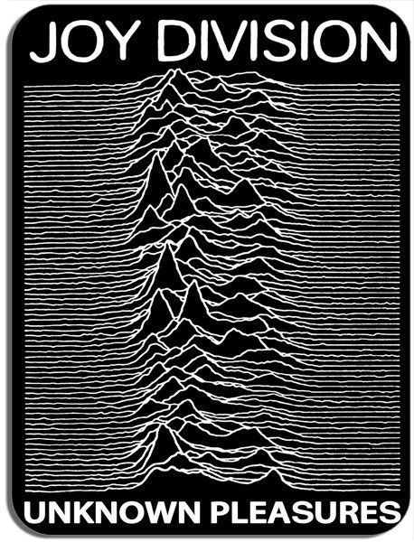 Joy Division Unknown Pleasures Vintage Poster Mouse Mat. Punk New Wave Mouse Pad