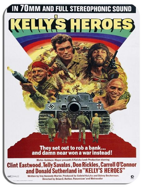 Kelly's Heroes Vintage Film Poster Mouse Mat. High Quality Movie Mouse Pad Gift