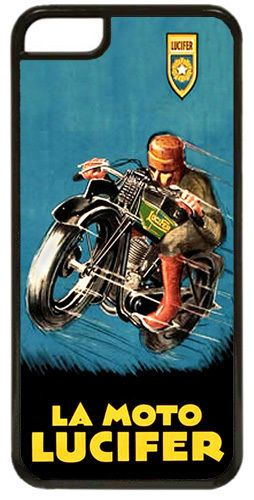 La Moto Lucifer Motorcycle HD Quality Cover Case For iPhone 5C Vintage Motorbike