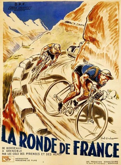La Ronde Tour de France Poster T-Shirt 12 Sizes. Bike Cycling Bicycle