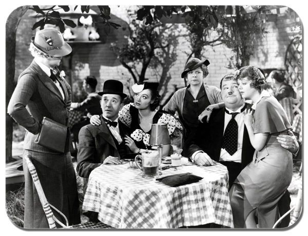 Laurel And Hardy Our Relations Movie Mouse Mat. Vintage Comedy Mouse pad