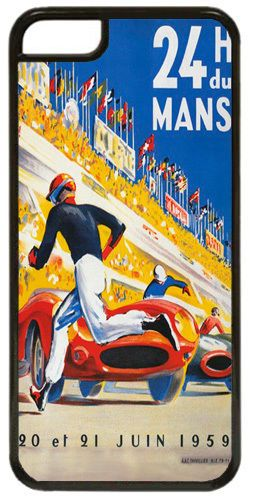 Le Mans 1959 Race Poster Cover/Case For iPhone 7/7S. Airline Print 24hrs Races