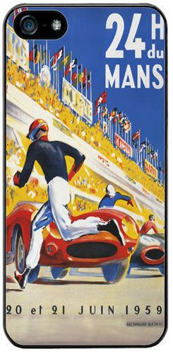 Le Mans 1959 Race Poster Rubber Cover/Case For iPhone 5/5S. 24hrs Races