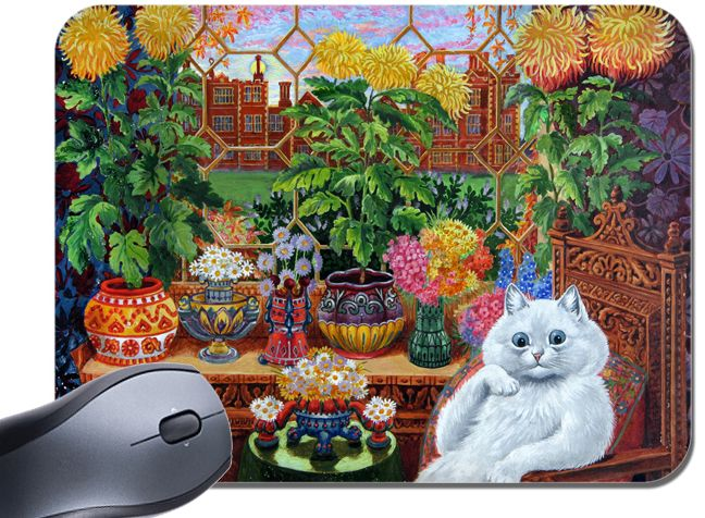 Louis Wain Psychedelic Cat Mouse Mat. Master of Cat College Quality Mouse Pad