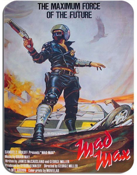 Mad Max Vintage Movie Poster Mouse Mat Film Novelty Mouse pad