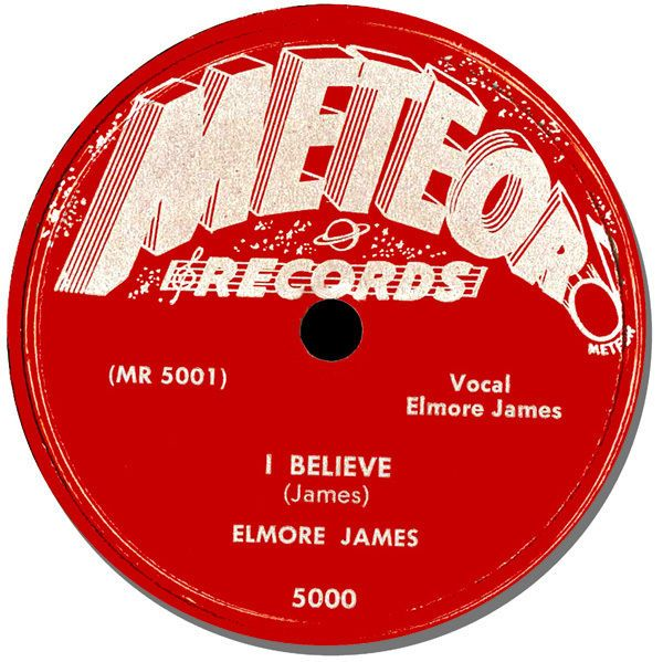 Meteor Records Blues Label Round Mouse Mat. Elmore James 45RPM Mouse pad