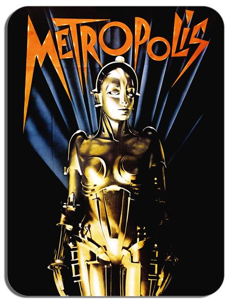 Metropolis Mouse Mat Classic Movie Poster Sci Fi Film Mouse pad Fritz Lang