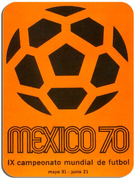 Mexico World Cup 1970 Travel Poster Mouse Mat. Football Advert Art Mouse Pad