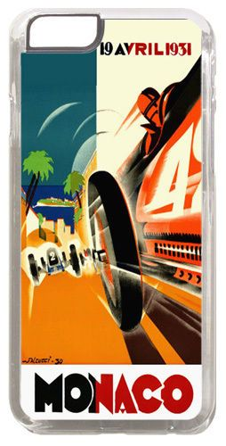 Monaco Grand Prix 1931 Cover/Case For iPhone 6/6S. Vintage Poster Car Racing