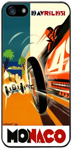 Monaco Grand Prix 1931 Rubber Cover/Case For iPhone 5/5S. Vintage Car Race Gift