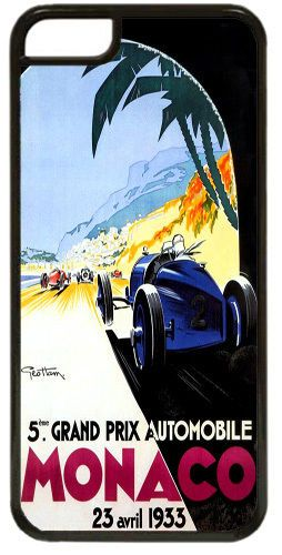 Monaco Grand Prix 1933 High Quality Cover/Case For iPhone 5C Vintage Poster Gift