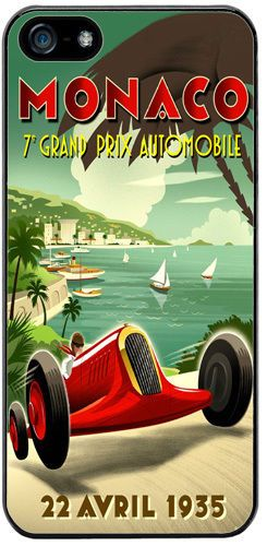 Monaco Grand Prix 1935 Cover/Case For iPhone 5/5S. Vintage Poster Car Race Gift