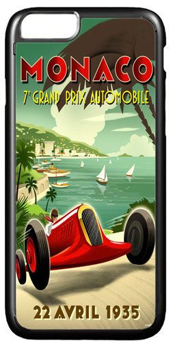 Monaco Grand Prix 1935 Vintage Poster Cover/Case Fits iPhone 7/7S 6/6S 6+/6+S