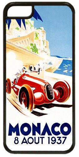 Monaco Grand Prix 1937 HD Quality Cover/Case For iPhone 5C Vintage Poster Gift