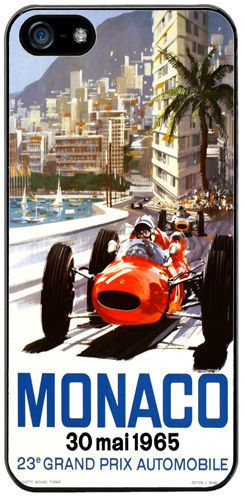 Monaco Grand Prix 1965 Cover/Case For iPhone 5/5S. Vintage Poster Car Race Gift