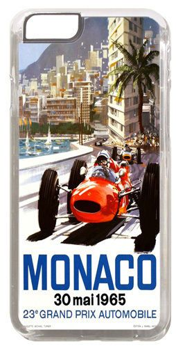 Monaco Grand Prix 1965 Cover/Case For iPhone 6/6S. Vintage Poster Car Racing