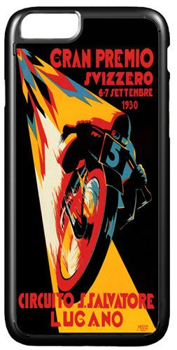 Moto GP Vintage Poster Cover Case For iPhone 7/7S. Swiss Grand Prix Motorcycle