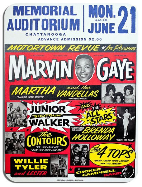 Motown Revue Marvin Gaye Northern Soul Mouse Mat Novelty Mouse pad