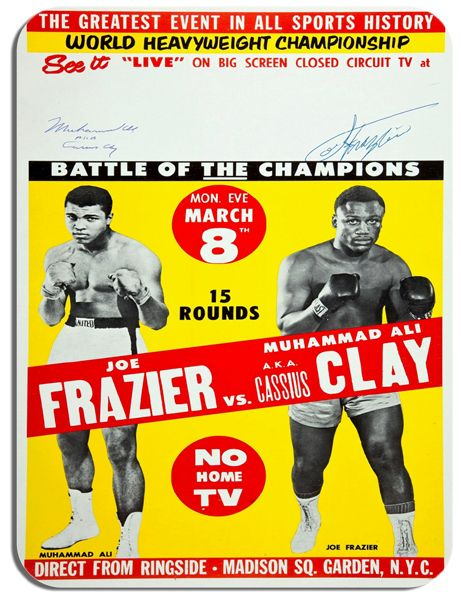 Muhammad Ali vs Joe Frazer Madison Square Garden  Mouse Mat.  Mouse Pad