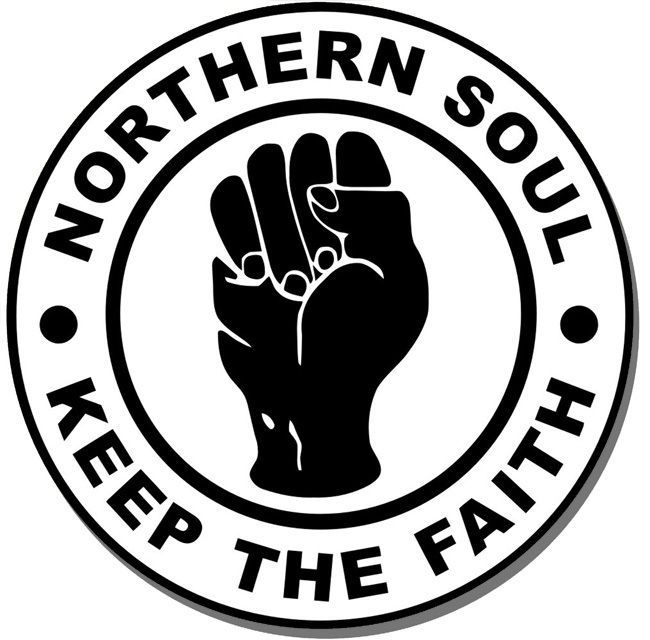 Northern Soul Keep The Faith Round Mouse Mat. Mouse pad
